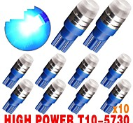 10 X Blue T10 Wedge High Power 1W Samsung Chips SMD LED Bulbs 192 168 194 921 US