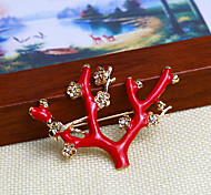 Red Wintersweet Brooch