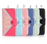 For iPhone 6 Case with Stand / Flip Case Full Body Case Solid Color Hard PU Leather iPhone 6s/6