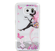 Christmas Elf Flow Sand PC Material Cell Phone Case for Samsung Galaxy S6/S6 edge