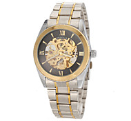 Men's Fashion Auto Mechanical Silver Steel Wrist Watch