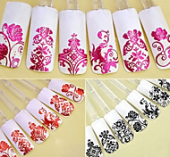 1PCS  Fashion 108pcs 3D DIY Flower Design Nail Art Stickers Flower Manicure Tips Decals