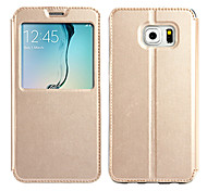 KALAIDENG Sun Series Super Thin View Leather Case for S6 EDGE PLUS