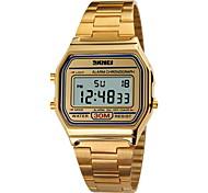 skmei® mode classique carré sport en acier numériques montre chronographe / alarme / calendrier / résistant à l'eau