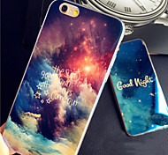 Good Night Starry Sky Blue Glare Cool Blue Light Reflective Soft TPU Case for iphone 5/5s
