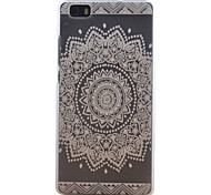 Sun Pattern Transparent Frosted PC Material Cell Phone Case for Huawei P8 Lite