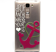 Anchors Pattern TPU Relief Back Cover Case for  LG Spirit H440N/H422