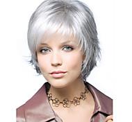 graue kurze syntheic Haarperücke Erweiterungen Individuation