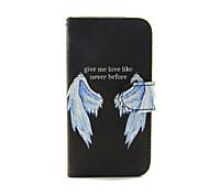 крылья шаблон PU кожаный чехол для всего тела с слот для карт и для iPhone стоят 5с