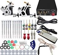 ITATOO® Machine Tattoo Gun Kits 5ML Yellow Red Pigment 8 Wrap Tattoo Machines and Power Unit
