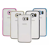 Plating Transparent PC Material Phone Case for Samsung Galaxy S6 edge/S6(Assorted Colors)