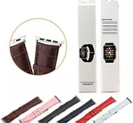 WatChband For Apple Watch With Connector For Apple iWatch Genuine Leather Watchband for iWatch 38mm/42mm