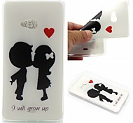 I Will Grow Up Words Phrase Pattern 0.6mm Ultra-Thin Soft Case for Lumia N540