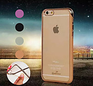 Plating Side Transparent TPU Material Phone Case for iPhone 6/ 6S (Assorted Colors)