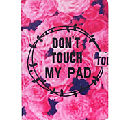 Flowers and Letters Pattern Standoff Protective Case for iPad Mini 4