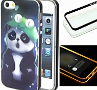 Para Funda iPhone 5 Linterna LED Funda Cubierta Trasera Funda Animal Suave TPU iPhone SE/5s/5