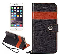 Color Matching Top Luxury Real Leather Case Wallet Stand Card Holder Sleeve Cover Bag For iPhone 6/6S(Assorted Color)