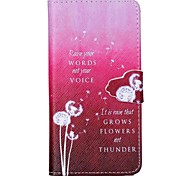 Gradient Dandelion Pattern PU Leather Case with Card Slot and Stand for Samsung Galaxy S4 mini/S3mini/S5mini/S3/S4/S5/S6