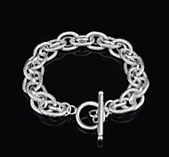 Xu™ Women's 925 Silver-Plated Serial Charm Bracelets