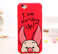 Lovely Pig Pattern Silicone Soft Case for iPhone 6