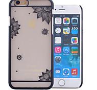 relevo transparente impressão pc caso de telefone de material oco para iphone 6 / 6s (cores sortidas)