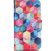 Hexagon Pattern PU Leather Phone Case for Samsung Galaxy J1