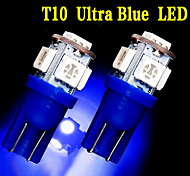 2 X ULTRA BLUE T10 5-SMD LED LICENSE PLATE Light bulbs W5W 2825 158 192 168 194