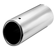 Pair Silver Chrome Exhaust Muffler Outlet Tip Pipe Fit for VW Jetta Vento MK6
