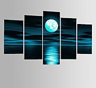 ручная роспись абстрактной серый блок пейзаж луна маслом на холсте 5pcs / комплект без рамки