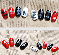 1set/8pcs  Mixed  Nail Stickers