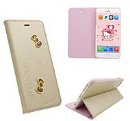 iphone6 plus PU leather cover Disney Hello Kitty Butterflies gold with a free Headfore HD Screen Protector for iPhone6+