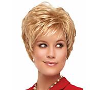 venta caliente extensiones de onda corta syntheic peluca rubia encantadora