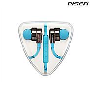 pisen alta fidelidad auriculares in-ear auriculares sin enredos de cables plana con mando a distancia para el iphone, ipod, ipad y