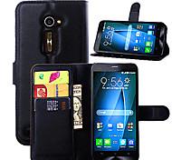 le manchon de protection du titulaire du grain de litchi est adapté pour Asus zenfone 2 de téléphone mobile