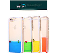 Deluxe Happy Fish Swimming Liquid PC Transparent Hard Back Cover for iPhone 5/5S(Assorted Colors)
