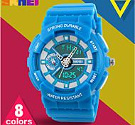 skmei® de bonbons de couleur unisexe temps double alarme de montre de sport / chrono / résistant à l'eau