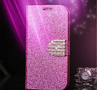 Glitter Diamond Leather Cell Phone Case Card Slot Wallet Back Cases For iPhone 5/5S(Assorted Color)