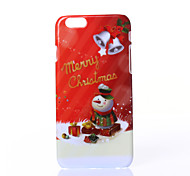 Christmas Snowman Pattern PC Hard Case for iPhone 6/iPhone 6S