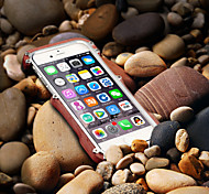 Metal And Wood Cool Metal Mobile Phone Case for iPhone 6 Plus/6S Plus