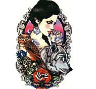 Tatuaggi adesivi-Serie animali / Serie fiori / Serie totem / Altro-Brand New-Da donna / Da uomo / Adulto / Teen-1-Modello- diCarta-