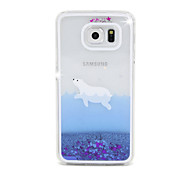 Seal Flow Sand PC Material Cell Phone Case for Samsung Galaxy S6/S6 edge