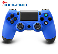 Kinghan® Dual Shock Wireless Bluetooth Game Controller for PS4 (Blue)