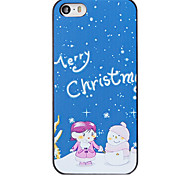 Christmas Style Kids and Snowman Pattern PC Hard Back Cover for iPhone 5/5S