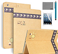LEXY® Banyan Pattern PU Leather Flip Stand Case with Screen Protector and Stylus for iPad Air 2/iPad 6
