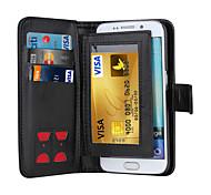 Magnet 2 in 1 Luxus-Leder-Mappenkasten Klappdeckel + Cash-Slot + Fotorahmen Telefonkasten für Samsung-Galaxie-S5 / S6 / S6 Kante