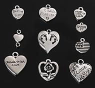 Подвески / Кулоны Металл Heart Shape как изображение 4-18pcs