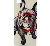 Glasses Dog Pattern TPU Soft Case for Huawei P8 Lite