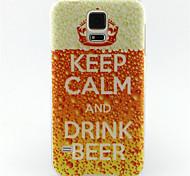 beber modelo pintura cerveza TPU caso suave para el mini mini mini s4 / samsung galaxy s3 / s5