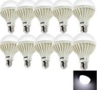 9W E26/E27 Bombillas LED de Globo A80 15 SMD 5630 700 lm Blanco Fresco Decorativa AC 100-240 V 10 piezas