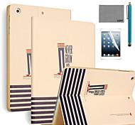 lexy® mai crescere caso del basamento del modello PU cuoio di vibrazione con la protezione dello schermo e lo stilo per ipad aria / ipad 5